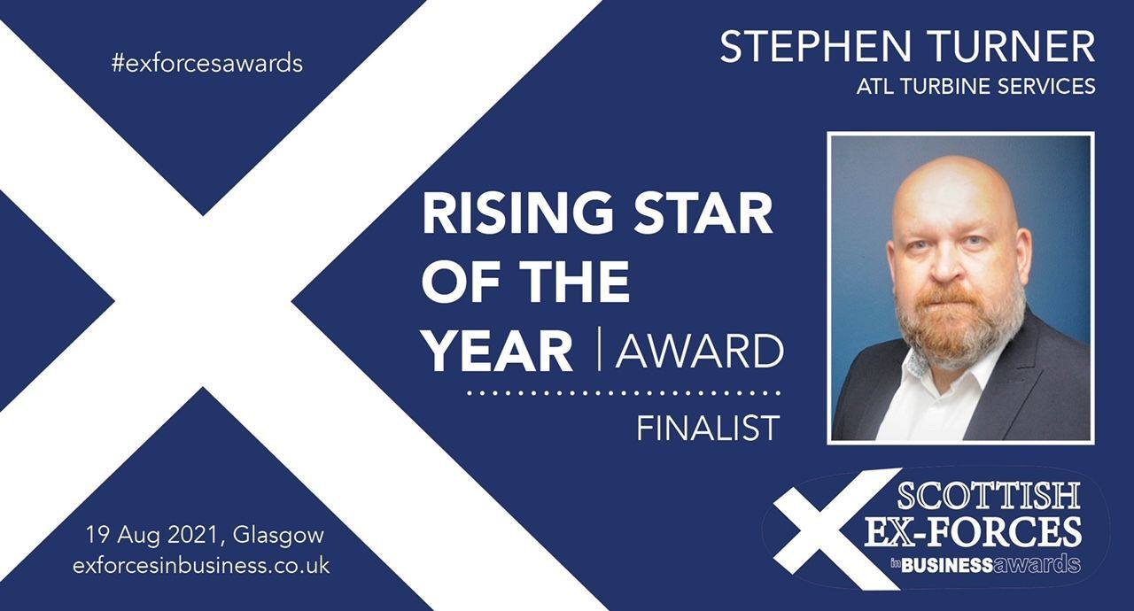 Stephen Turner has made the shortlist for this year's Scottish Ex-Forces in Business Award!